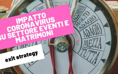 IMPATTO CORONAVIRUS SU SETTORE EVENTI E MATRIMONI   exit strategy